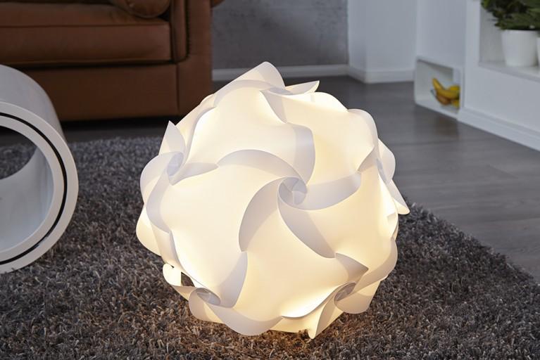 Design Bodenlampe Geometrics weiss 50cm