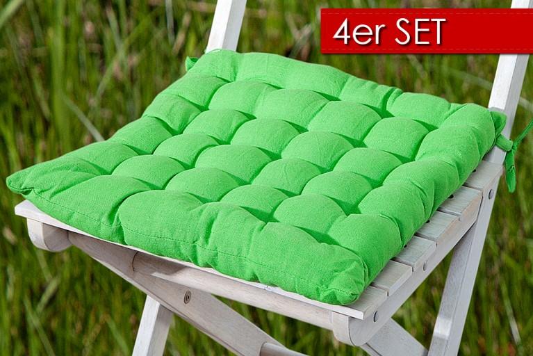 4er Set Design Sitzkissen SUMMER Lime 40x40cm