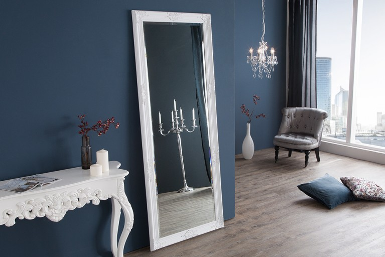 gro er barock spiegel renaissance silber 185x75cm wandspiegel riess. Black Bedroom Furniture Sets. Home Design Ideas