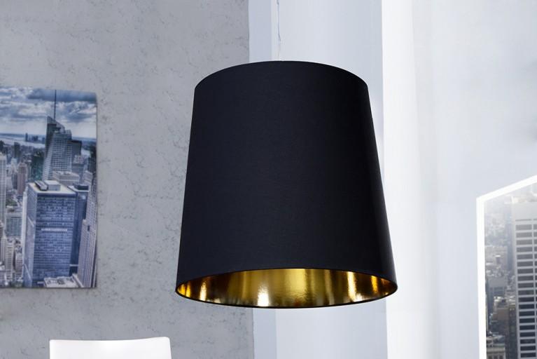 Design Hängeleuchte DARK SAPPHIRE XXL schwarz gold
