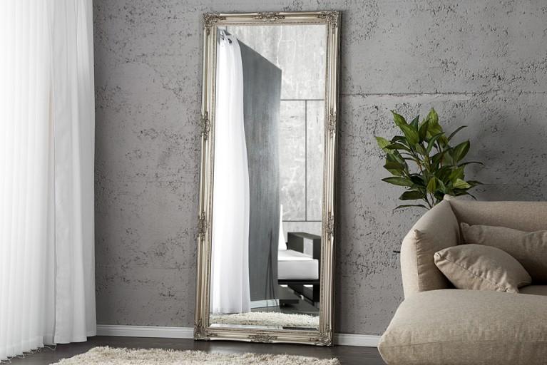 Großer Barock Spiegel RENAISSANCE silber 185x75cm Wandspiegel