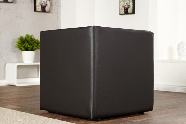 Design Club Hocker MONOLIT 1er Kunstleder schwarz Sitzwürfel 45cm