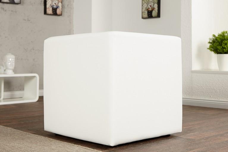 Design Club Hocker MONOLIT 1er weiss Sitzwürfel 45cm
