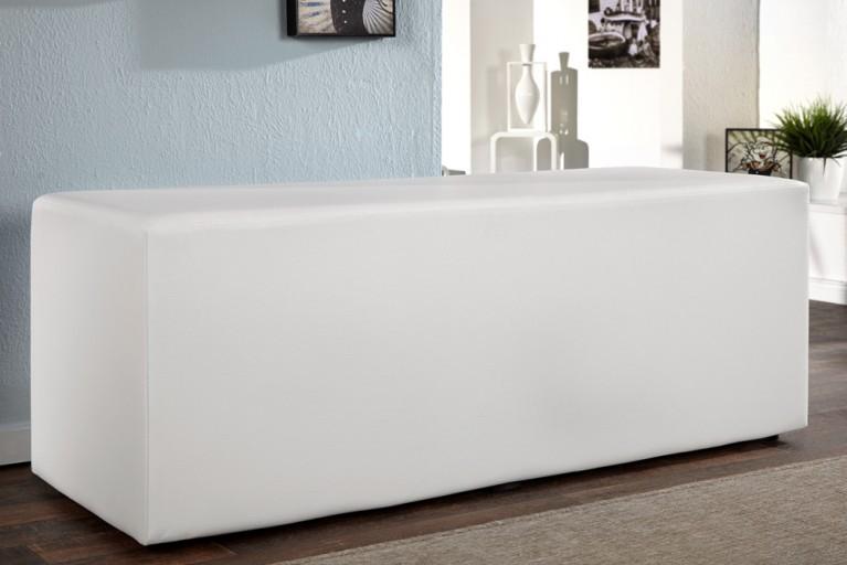 Design Clubbank MONOLIT 3er weiss Sitzbank 45cm
