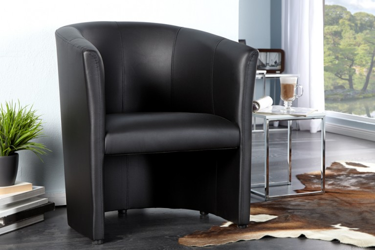 Stylischer Cocktailsessel ART DECO schwarz Sessel Clubsessel