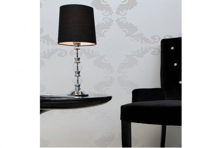 Exklusive Design Tischlampe PIANA in Schwarz