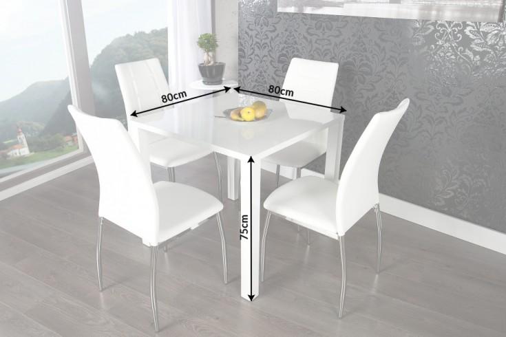 design bistrotisch lucente hochglanz wei esstisch 80 x. Black Bedroom Furniture Sets. Home Design Ideas