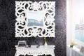 Opulenter Barock Spiegel VENICE weiss antik Wandspiegel 75cm