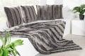Edles Design Wildfell TIBET 150x200cm grau anthrazit Plaid Decke in Wildfell-Optik