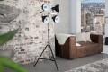 Design Stehleuchte LIGHT SPOT schwarz höhenverstellbar Stehlampe