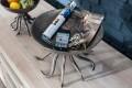 Monumentale Designer Schale OCTOPUS 30cm silber matt Handarbeit aus stabiler Metall - Aluminium - Legierung