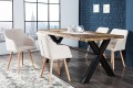 Exklusiver Design Stuhl SCANDINAVIA MEISTERSTÜCK Buche Gestell natur mit Armlehne im Retro Trend