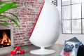 Design Lounge Sessel Sitzei SPACE EGG weiss rot