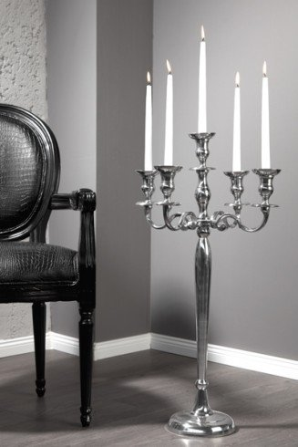 gro er barock kerzenst nder 5 armig l ster 80cm metall. Black Bedroom Furniture Sets. Home Design Ideas