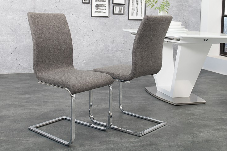 Eleganter design freischwinger hampton stuhl strukturstoff for Eleganter design stuhl livorno strukturstoff grau