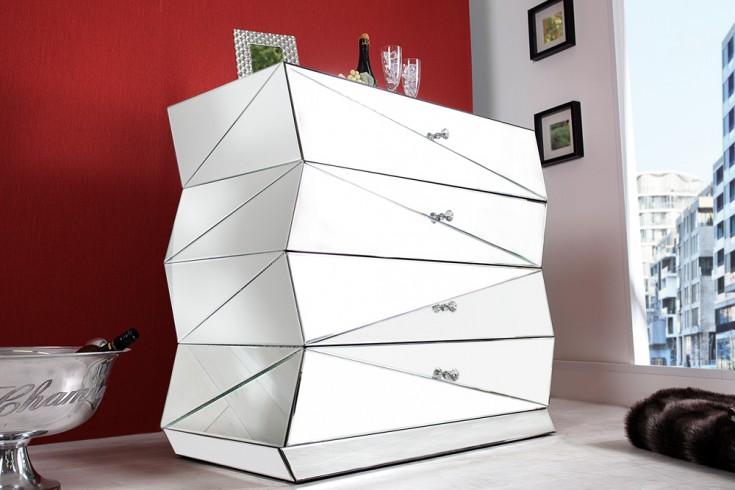 verspiegelte design kommode vision 100 cm sideboard. Black Bedroom Furniture Sets. Home Design Ideas