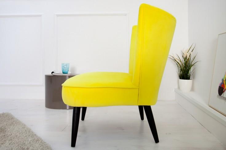 stylischer retrosessel sixties samtstoff limette polstersessel retro 60er gelb riess. Black Bedroom Furniture Sets. Home Design Ideas