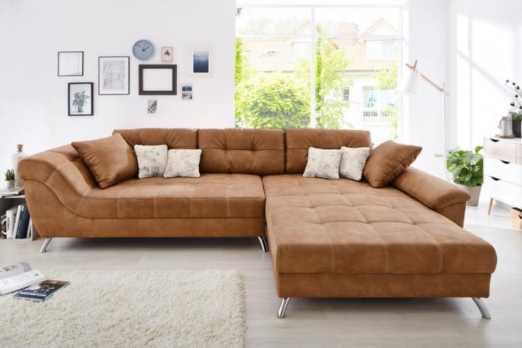 design wohnlandschaft genesis 360cm light coffee. Black Bedroom Furniture Sets. Home Design Ideas