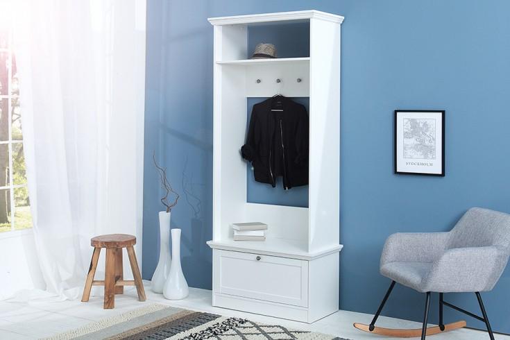 klassische garderobe provence wei 200cm im landhausstil riess. Black Bedroom Furniture Sets. Home Design Ideas