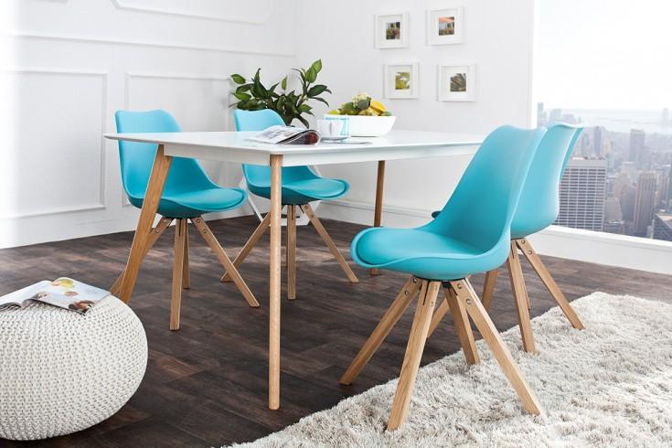 Stuhl scandinavia meisterst ck massivholzbeine t rkis im for Stuhl scandinavian design
