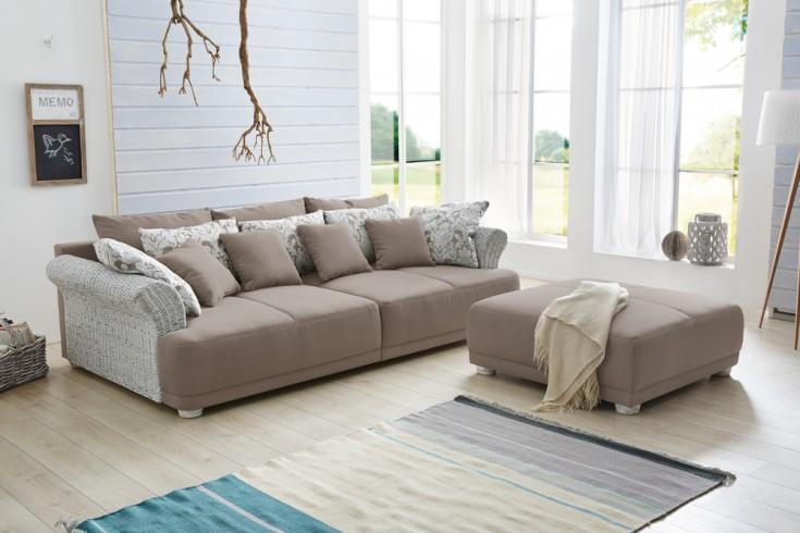 design hocker zu big sofa provence landhauslook mit vintagecharakter riess. Black Bedroom Furniture Sets. Home Design Ideas