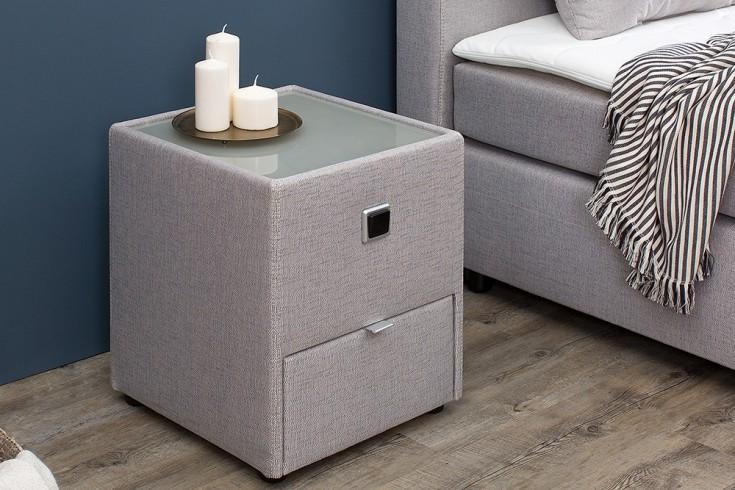 design nachtkommode lyon f r boxspringbetten grau beige. Black Bedroom Furniture Sets. Home Design Ideas