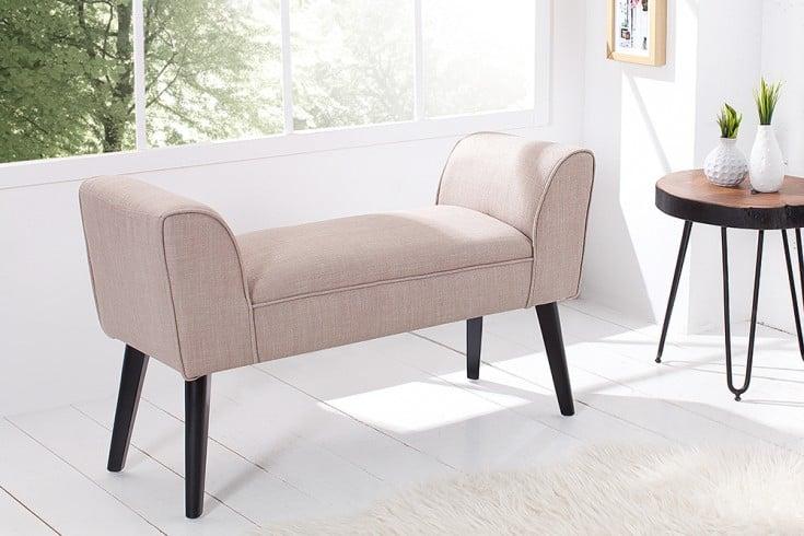 elegante sitzbank scarlett 90 cm sand beine aus massivholz gepolstert riess. Black Bedroom Furniture Sets. Home Design Ideas
