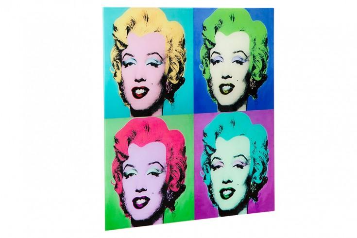 Kultiges Pop Art Bild MARILYN 60x60cm Kunstdruck Wandbild aus Glas ...
