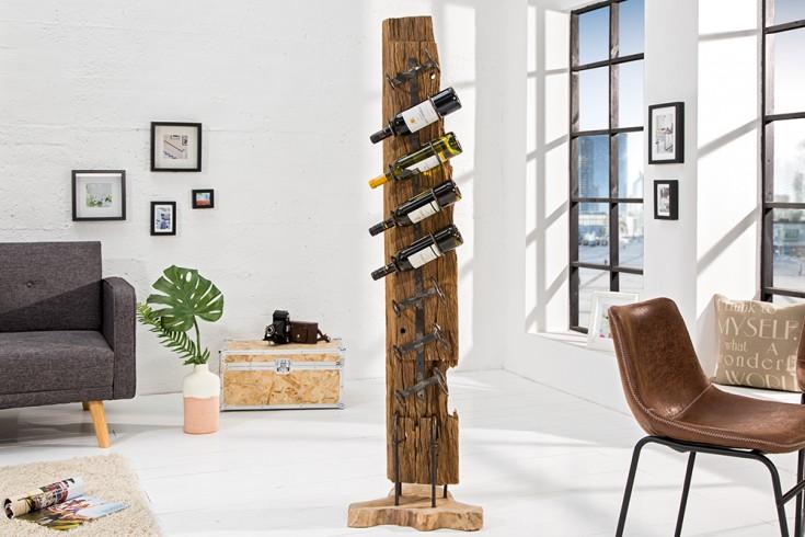 massives weinregal barracuda antik teak holz 140cm wein. Black Bedroom Furniture Sets. Home Design Ideas