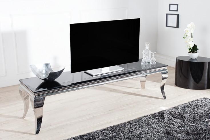 stylischer tv tisch modern barock 160cm edelstahl. Black Bedroom Furniture Sets. Home Design Ideas
