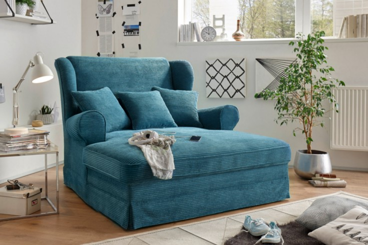 design xxl loveseat sessel melbourne petrol cord mit kissen ohrensessel riess. Black Bedroom Furniture Sets. Home Design Ideas