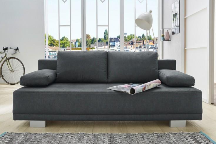 modernes schlafsofa oxford 196cm grau inkl kissen. Black Bedroom Furniture Sets. Home Design Ideas