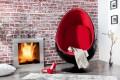 Design Lounge Sessel Sitzei SPACE EGG schwarz rot