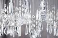 Edle Design Hängelampe DIAMONDS XL 9-flammig Prismen Kristalle