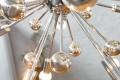 Stylische Design Hängeleuchte SUPERNOVA XL Chrom Hängelampe 65 cm