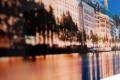 Hochwertiger Kunstdruck HAMBURG BINNENALSTER 45x140cm Wandbild aus Glas