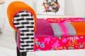 Patchwork Design Bank GYPSY mehrfarbig Sitzbank