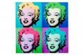 Kultiger Pop Art Kunstdruck MARILYN 80x80cm Wandbild aus Glas