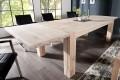 Massiver Esstisch WILD OAK 160-240 cm inkl. 2 Ansteckplatten gekälkt hochwertige Wildeiche made in EU