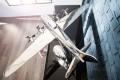 Nostalgisches Flugzeug Modell PILOT 80cm Aluminium Metall Legierung Propellerflugzeug