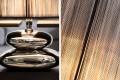 Moderne Tischlampe GRACIA  schwarz silber 35 cm