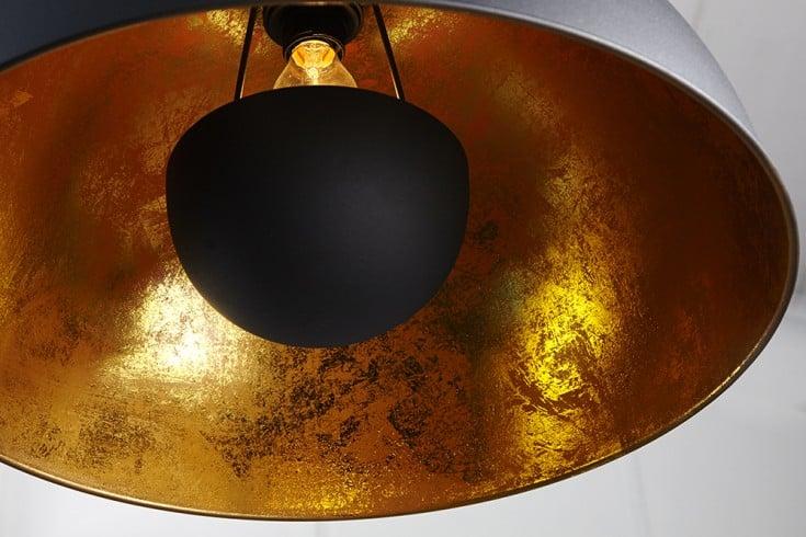 moderne h ngelampe studio schwarz blattgold optik riess. Black Bedroom Furniture Sets. Home Design Ideas