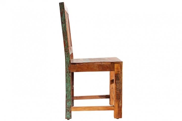2er Set Massiver Stuhl JAKARTA Aus Recycelten Fischerbooten Massivholz  Holzstuhl 95cm