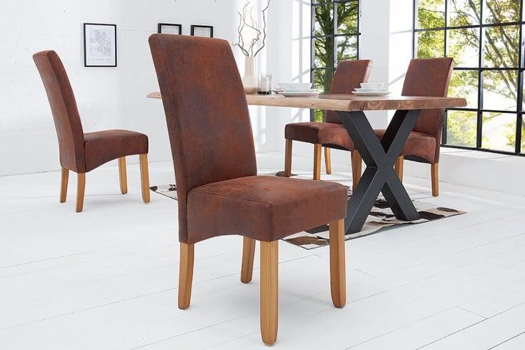 Edler MassivholzbeineRiess Kolonialstil Stuhl Vintage Valentino Braun yOnN8v0wPm