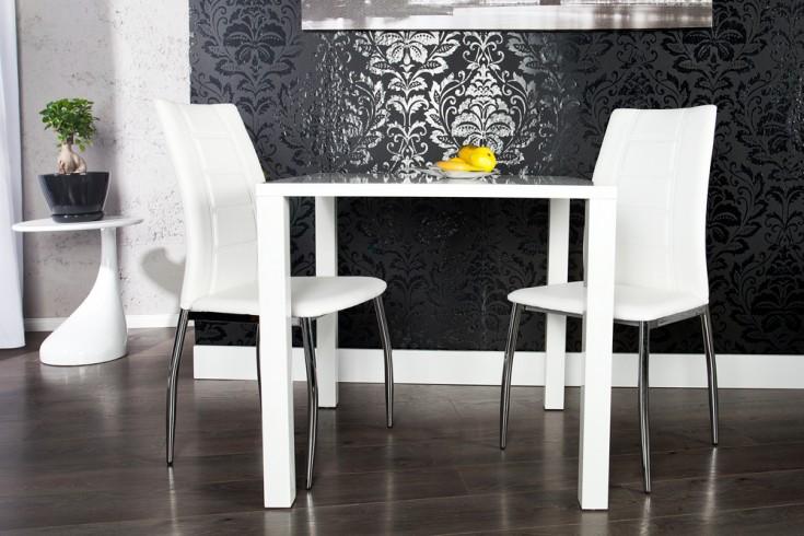 Design bistrotisch lucente hochglanz wei esstisch 80 x for Bistrotisch design