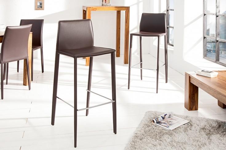 Exklusiver design barstuhl milano echt leder coffee for Design stuhl milano echtleder