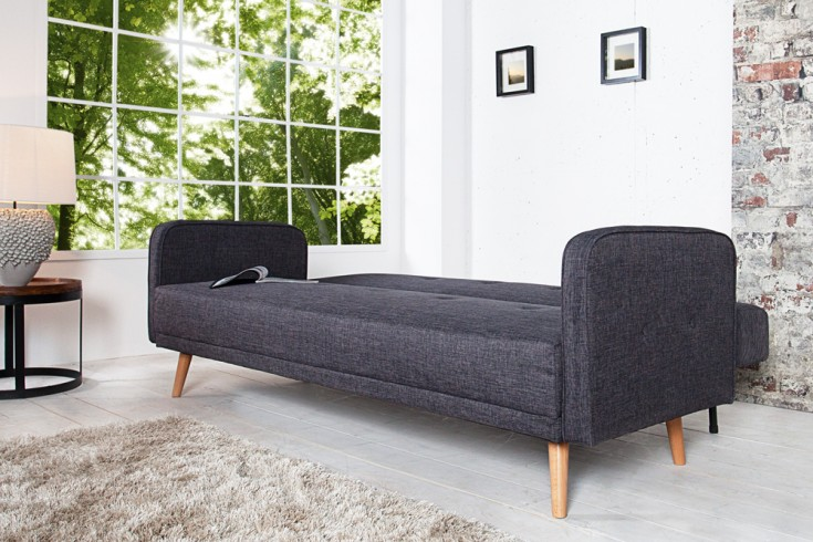 design schlafsofa scandinavia anthrazit mit hochwertigem. Black Bedroom Furniture Sets. Home Design Ideas