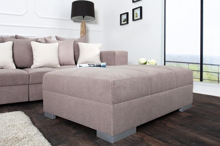 hocker zum sofa big sofa island soft baumwolle greige. Black Bedroom Furniture Sets. Home Design Ideas