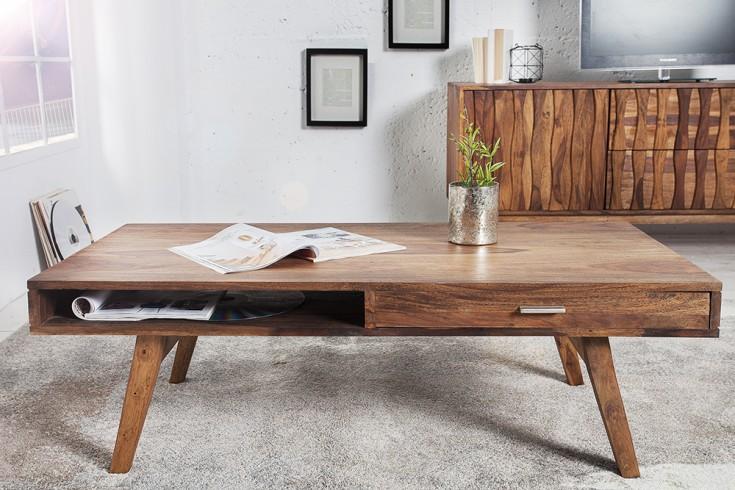 design couchtisch retro 117cm sheesham stone finish design klassiker riess. Black Bedroom Furniture Sets. Home Design Ideas