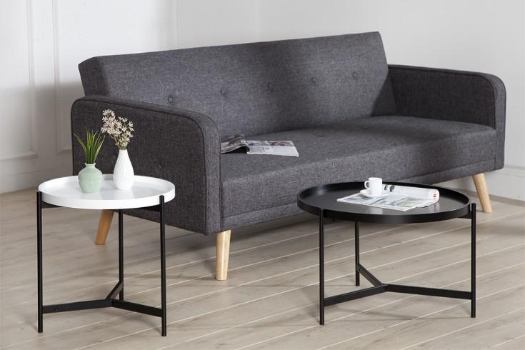 extravagantes couchtisch set lagoon schwarz wei matt rund multifunktional riess. Black Bedroom Furniture Sets. Home Design Ideas